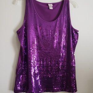 EUC Covington Purple Shimmering Sleevelss 20-22W
